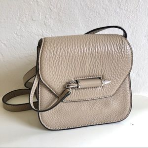 NEW Mackage Novaki Beige Tan Mini Crossbody Bag
